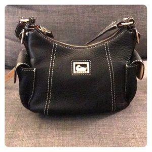 Black Leather Dooney & Bourne Crossbody Bag